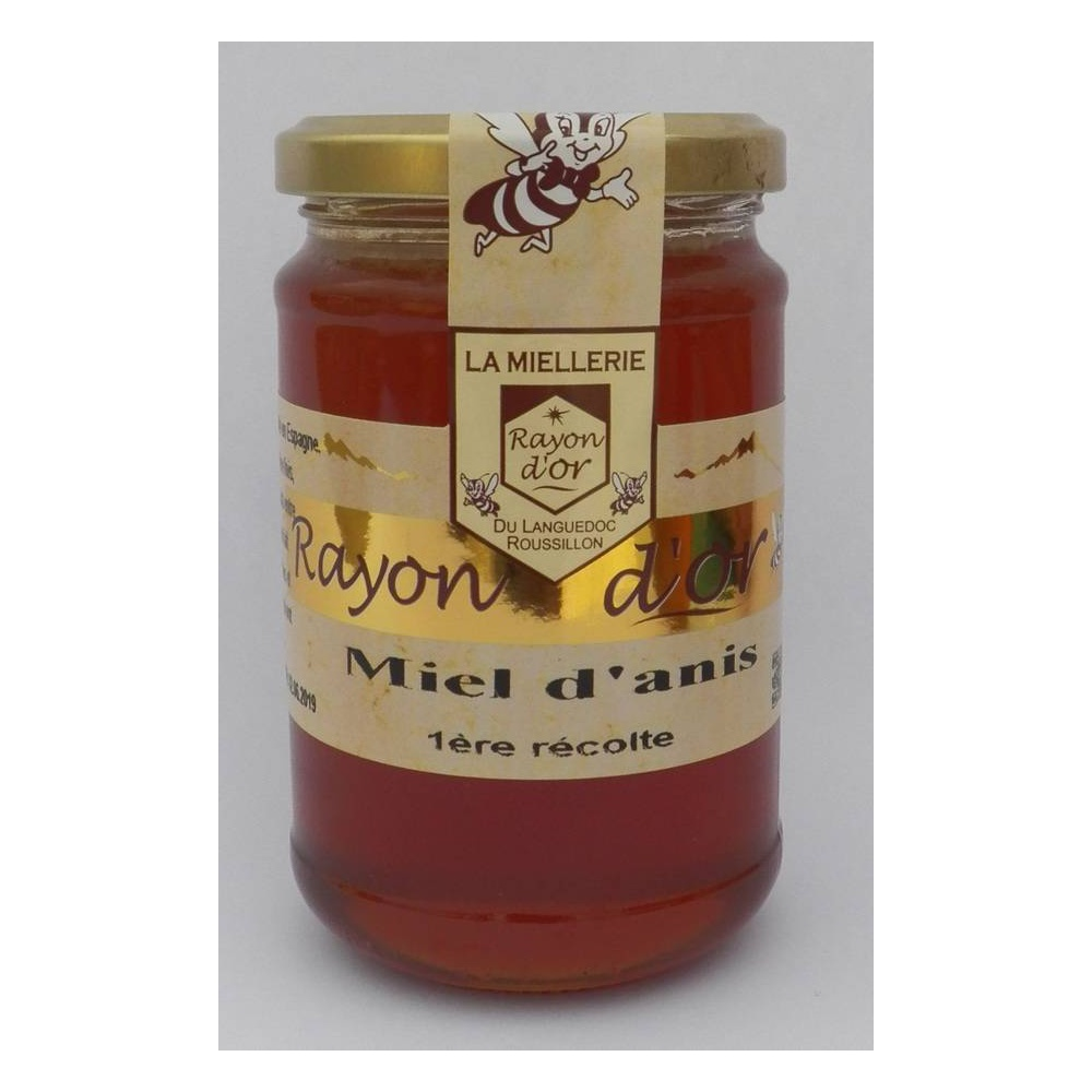 miel d'anis 350g pot verre - Miel Rayon d'Or