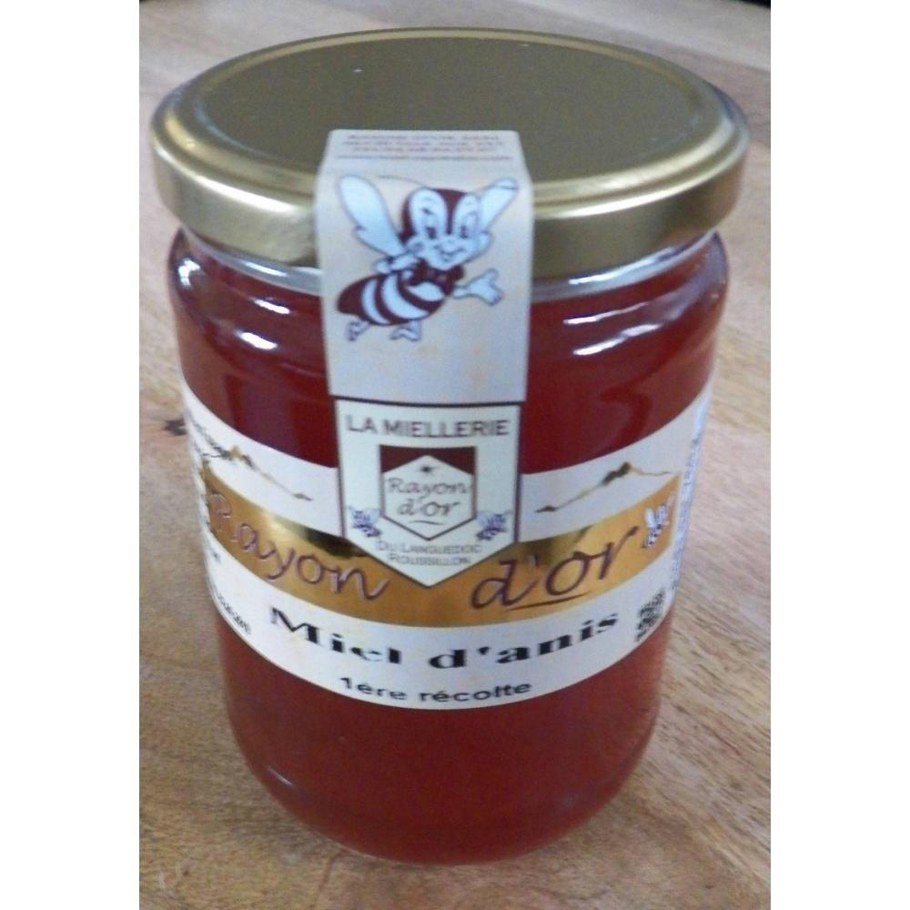 miel d'anis 750g pot verre - Miel Rayon d'Or
