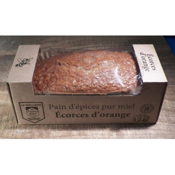 pain d'épices artisanal pur miel aux écorces d'oranges 300g