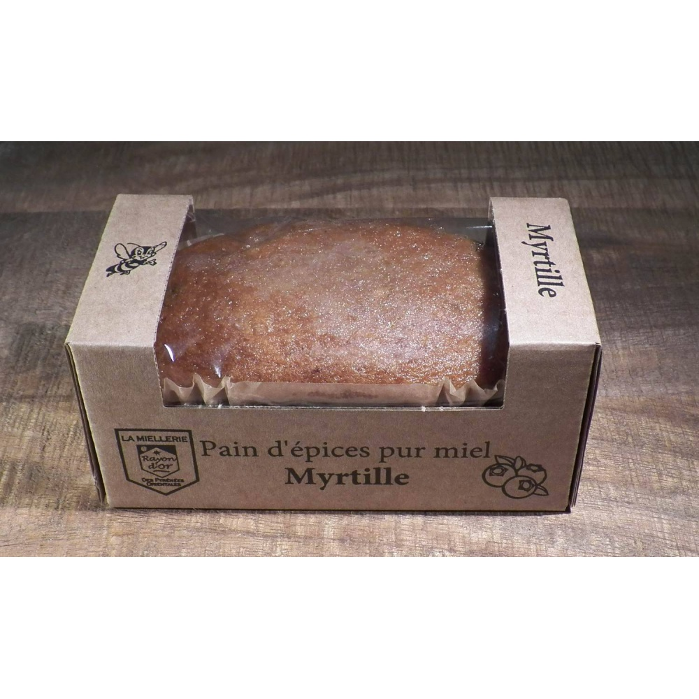 Pain d'épices myrtille 115g - Miel Rayon d'Or