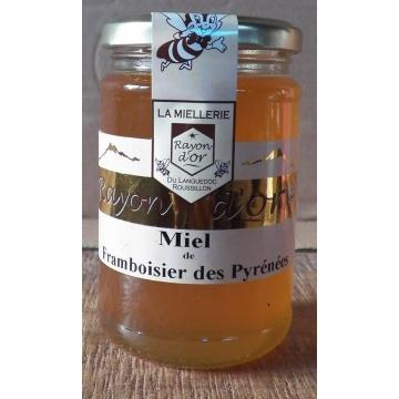 miel de framboisier des Pyrénées 750g pot verre
