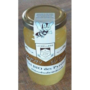 miel de rhododendron bio des Pyrénées 270g - Miel Rayon d'Or