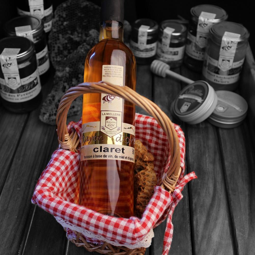 Claret - alcool de miel 50cl - Miel Rayon d'Or