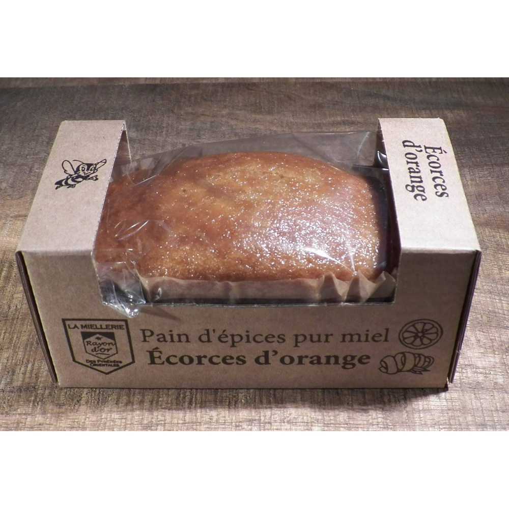 Pain d'épices pur miel et écorces d'orange portion individuelle 115g - Miel Rayon d'Or