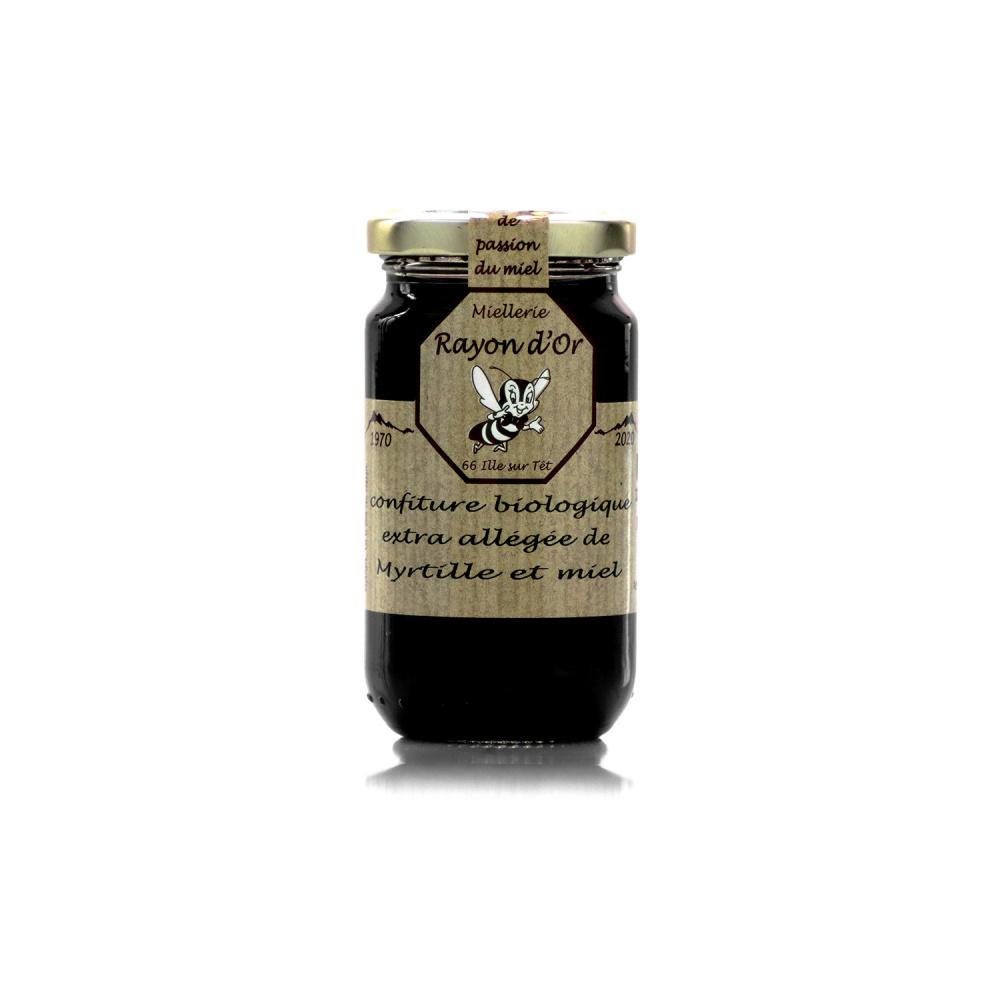 Confiture bio à la myrtille et au miel 220g