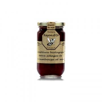 Confiture bio à la framboise et au miel 220g • Miel Rayon d'Or