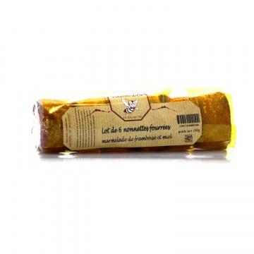 Nonnettes au miel et à la framboise